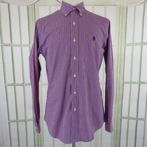 Ralph Lauren Men's Button Front Pinstripe Shirt M